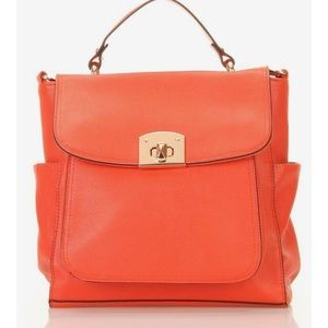 Levaunt Orange Turnlock Handbag NWT